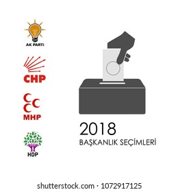 turkish political parties akp, chp, mhp, hdp party logos, vector work