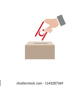 Turkish Republic of Northern Cyprus Elections Vote Box Vector Work
