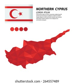 Turkish Republic of Northern Cyprus geometric concept design