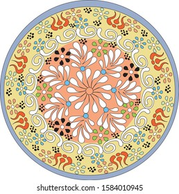 Turkish Souvenirs  - Colorful Ceramic Bowl from Turkey.