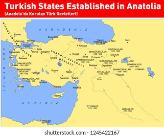 Turkish States Established in Anatolia