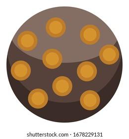 Turkish sweet cake icon. Isometric of turkish sweet cake vector icon for web design isolated on white background