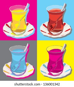 turkish tea pop art