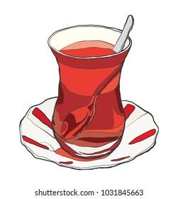 turkish tea vector file