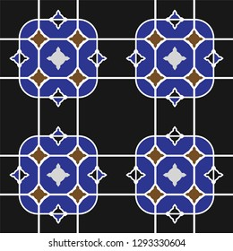 Turkish tile motif, vector