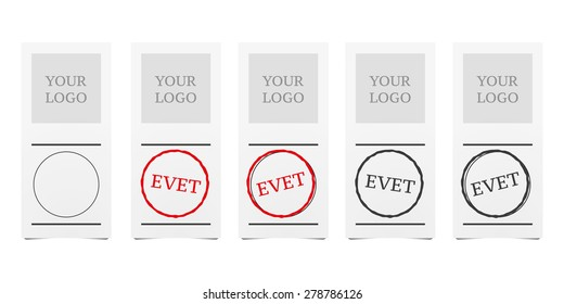 Turkish Voting Paper Vector Illustrations (English: Yes)