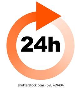 Turn around time (TAT) icon with circular arrow