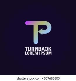Turn Back Logo Template