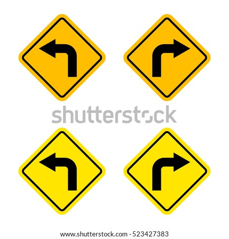 turn left turn right sign stock vector royalty free 523427383