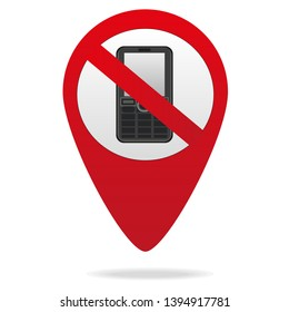 turn off the phone in red geolocation