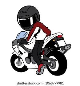 Turn one's back Biker Motorcycle Rider