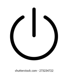 turn power on or turn power off line art vector icon for apps and websites