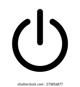 Turn power on / turn power off line art icon for apps and websites