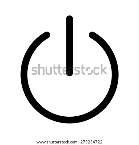 Turn Power On Turn Power Off Stock Vector Royalty Free 273234722