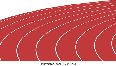 turn red running track stadium vector illustration