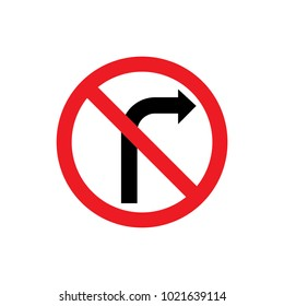 Turn right icon and symbol