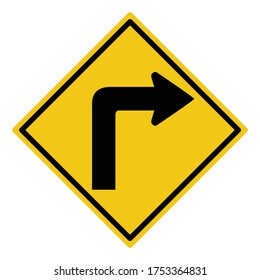 turn right sign, turn right signal, traffic sign vector
