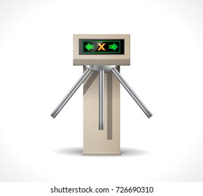 Turnstile Entrance - Metro station security system