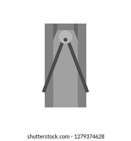 Turnstile entry vector urban icon illustration machine. Metal exit rotating platform shop outdoor. Electronic tourniquet system