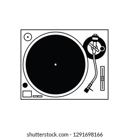 Turntable flat vector pictogram.
