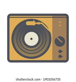 Turntable icon or sign, abstract vector illustration
