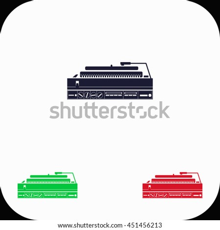 turntable illustration set blue green red stock vector royalty free rh shutterstock com