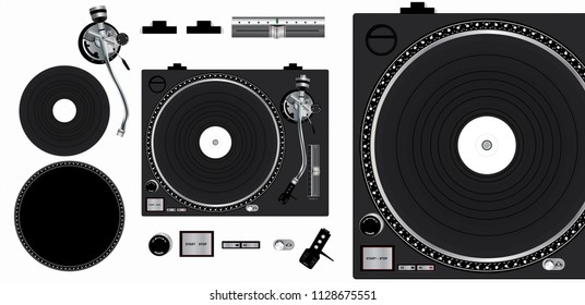 Turntable Vector Mockup. Scalable, editable and customizable turntable mockup.