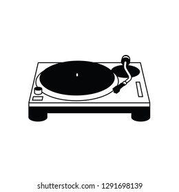 Turntable vector pictogram.