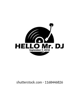 Turntable or Vinyl logo design related to DJ music party