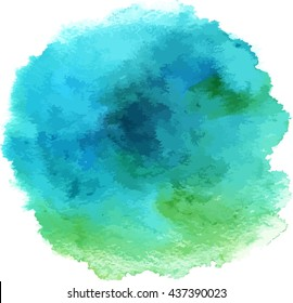 Turquoise abstract watercolour background texture; scalable vector graphic