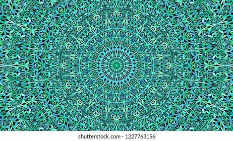 Turquoise botanical ornate mandala pattern background - abstract bohemian vector ornament wallpaper graphic