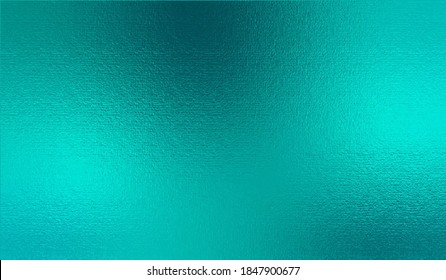 Turquoise metallic effect. Teal texture shine foil. Glitterer background. Metal effect. Blue green surface. Backdrop glitter mint metal plate. Metallic texture foil for design invitation, card, prints