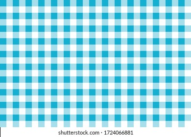 Turquoise tablecloth seamless vector pattern