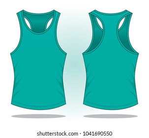 Turquoise Tank Top Vector