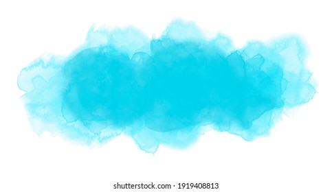 Turquoise watercolor background in vector quality.