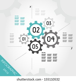 turquoise zig zag infographic template. infographic concept.