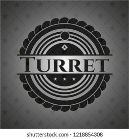 Turret dark emblem. Retro