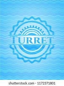 Turret water wave emblem.
