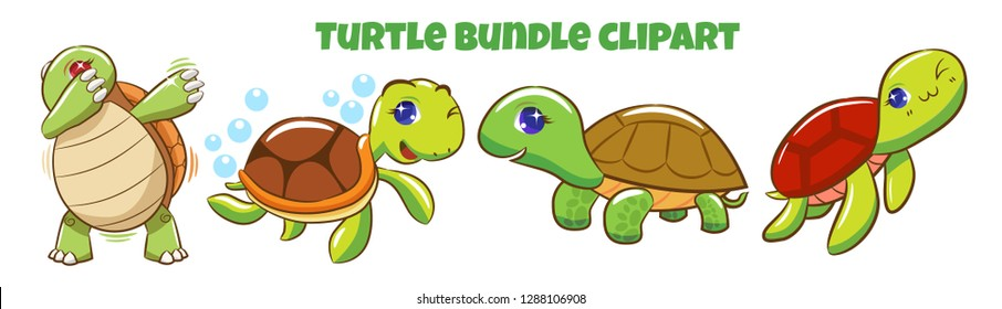 Turtle bundled clipart
