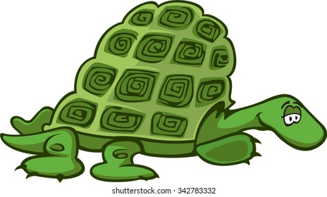 Turtle A cartoon Green Turtle. Vector file available.