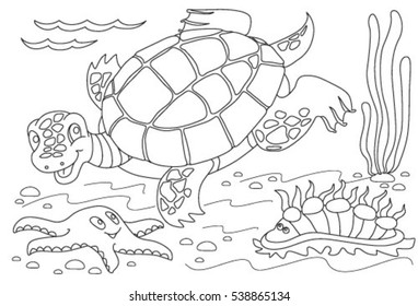 Top 20 Free Printable Turtle Coloring Pages Online | 280x382