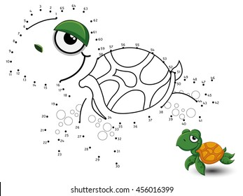 Turtle Connect the dot and color