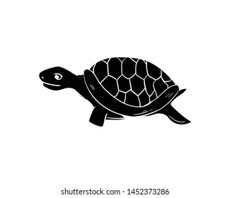 turtle doodle animal hand drawing black color