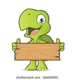 Turtle holding a plank of wood