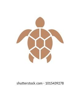 Turtle icon isolated on white background. Sea animal.
