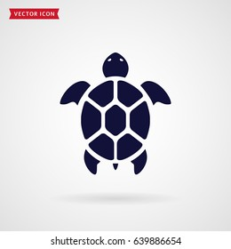 Turtle icon isolated on white background. Sea animal. Vector symbol.