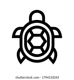 turtle icon or logo isolated sign symbol vector illustration - high quality black style vector icons