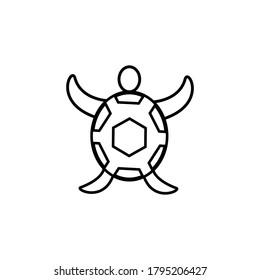 turtle icon outline. turtle logo vector design