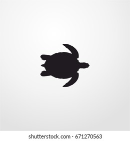 turtle icon. vector sign symbol on white background