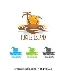Turtle Island Logo, Turtle Island Vector Design
